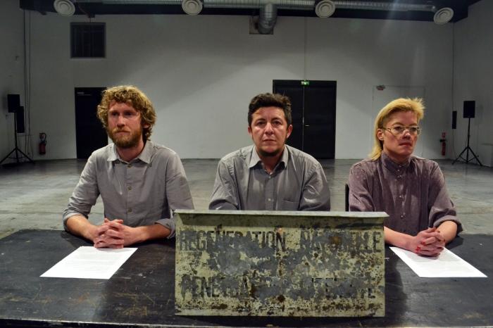 Mac-Fall, Imwinkelried and Nedregard performing as Dimanche Rouge, FRASQ 2014, Paris. Photograph: Eliane Akl.